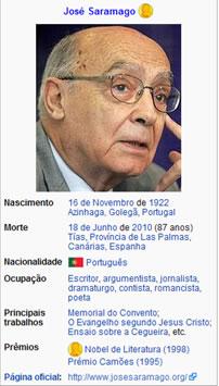 Saramago: ateu graças a Deus   Portal do Envelhecimento